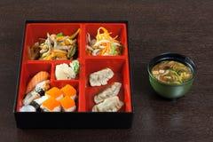 Déjeuner japonais de café des sushi Photos stock