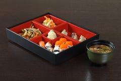 Déjeuner japonais de café des sushi Photo stock
