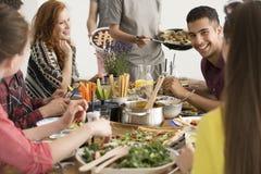Déjeuner mangeur d'hommes espagnol de sourire Image stock