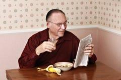 Déjeuner mangeur d'hommes mûr Images libres de droits