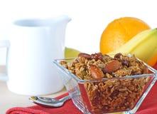 Déjeuner organique sain de granola et de fruit photos libres de droits