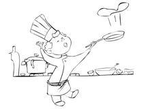 Déjeuner prêt illustration stock