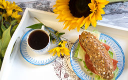 Déjeuner romantique Photos stock
