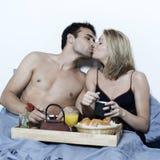 Déjeuner romantique dans le bâti Images libres de droits