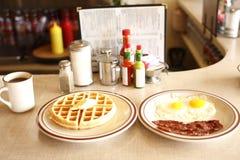 Déjeuner savoureux de wagon-restaurant image libre de droits