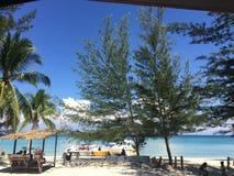Déjeuner sous l'île de mantanani de ciel Images libres de droits