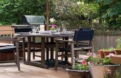 Déjeuner sur le patio Photo libre de droits