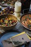 Déjeuner traditionnel espagnol de tapas Images libres de droits
