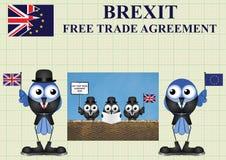 Délégation comique du commerce du Royaume-Uni Images libres de droits