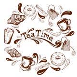 Délai de thé illustration de vecteur