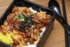 Délicatesse orientale - poulet Shiogayaki JYU Photographie stock