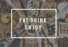 Délicieux appréciez le concept sain gastronome de boisson de nourriture photographie stock