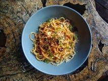 Délicieux aucune viande Sphagetti Photos stock