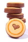 Délicieux ! ! ! Biscuits sur le fond blanc Image libre de droits