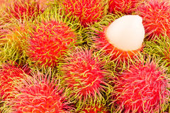 délicieux doux de ramboutan sur la nourriture saine de fruit tropical de ramboutan de fond Photographie stock