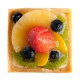 Délicieux, tarte de fraise, ananas, kiwi, myrtilles oranges Image stock
