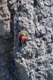 Délivrance dans la montagne des dolomites Photographie stock libre de droits