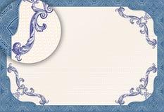 Délivrez un certificat le blanc Photos libres de droits