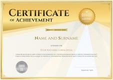 Délivrez un certificat le calibre dans le vecteur pour le comple d'obtention du diplôme d'accomplissement Image stock