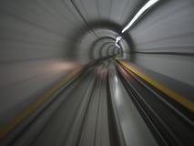 Déménager dans le tunnel de métro Photo stock
