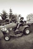 Déménager de pelouse Photos stock