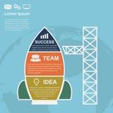 Démarrage infographic Images libres de droits
