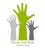 Déme el símbolo cinco Imagenes de archivo
