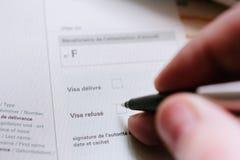 Démenti de visa photo libre de droits