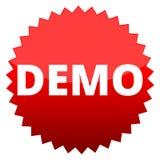 Démo de bouton rouge Photos libres de droits