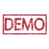 Démo des textes de timbre Images libres de droits