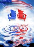 Démocrate contre le républicain Images libres de droits