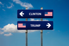 Démocrate et concepts républicains dans l'élection américaine Images libres de droits