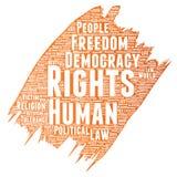 Démocratie de liberté politique de droits de l'homme de vecteur Photo libre de droits