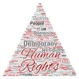 Démocratie de liberté politique de droits de l'homme de vecteur Images libres de droits