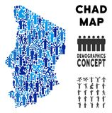 Démographie Chad Map illustration stock