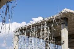 Démolition d'un pont urbain images stock