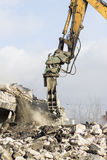 Démolition de bâtiment Photo libre de droits