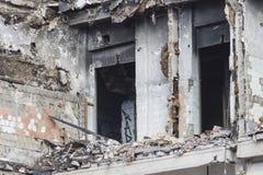 Démolition de bâtiment Photos stock