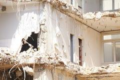 Démolition de bâtiment Image libre de droits