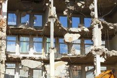 Démolition de bâtiment Photos libres de droits