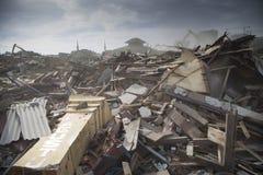 Démolition de village de Batang à Jakarta du nord Photos libres de droits