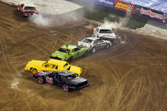 démolition Derby de véhicules photo stock