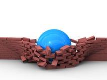 Démolition des obstacles Photo stock