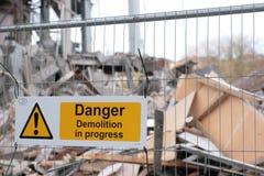 Démolition du bâtiment Images stock