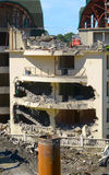 Démolition du bâtiment illégalement construit Images libres de droits
