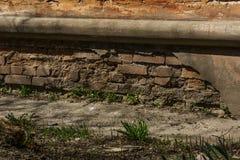 Démolition du sous-sol d'un bâtiment images stock