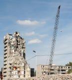 démolition van een gebouw Stock Fotografie
