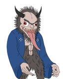 Démon animal avec la languette longue illustration libre de droits