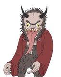 Démon animal avec la languette longue illustration de vecteur