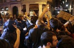 Démonstrateurs pour la liberté à Barcelone Photo stock